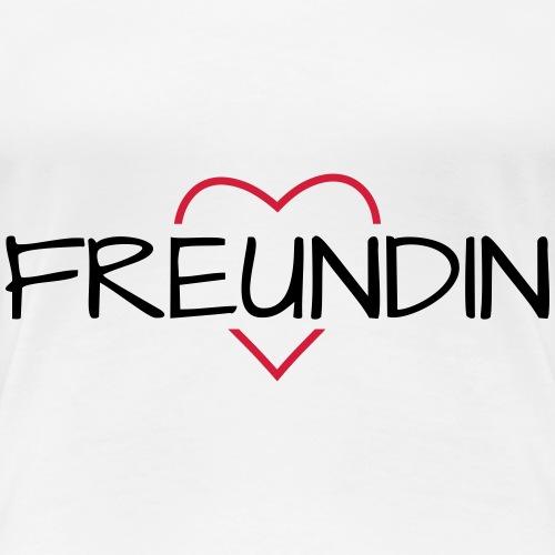 Freundin Herz beste Freundin - Frauen Premium T-Shirt
