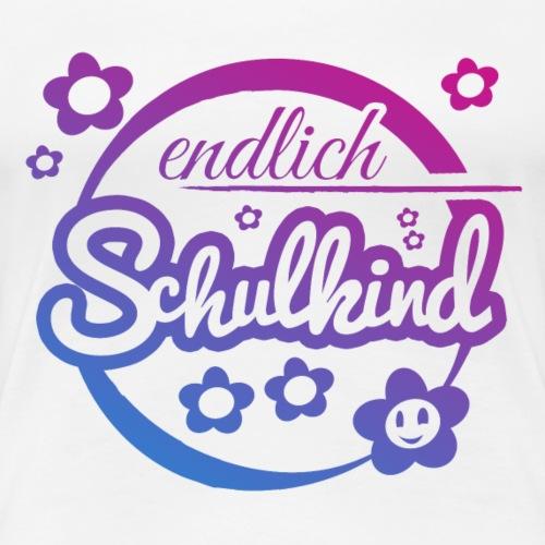 Endlich Schulkind - Einschulung Shirt - Frauen Premium T-Shirt