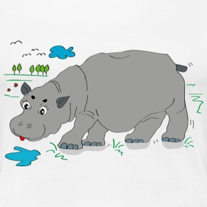 Hippo meadow - Women's Premium T-Shirt