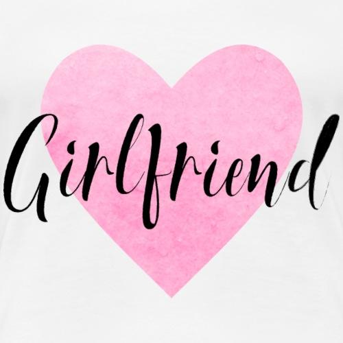 Girlfriend Herz JGA Junggesellenabschied BFF - Frauen Premium T-Shirt