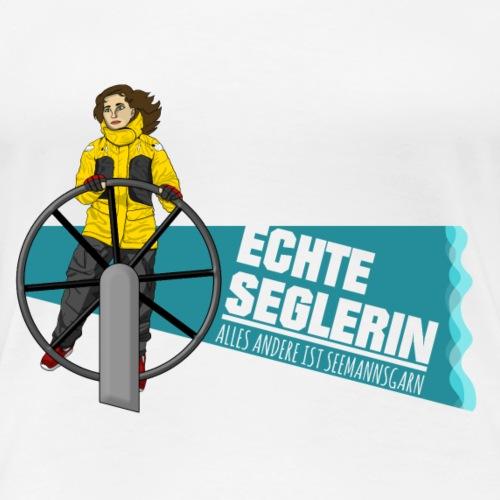 Echte Seglerin - Brünett - Frauen Premium T-Shirt