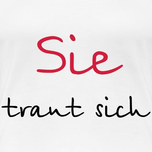 Sie traut sich Junggesellenabschied Hochzeit Mut - Frauen Premium T-Shirt