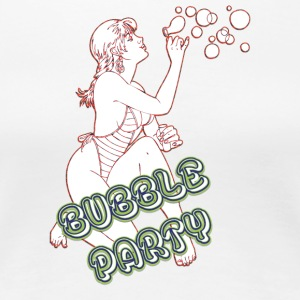 BUBBLE PARTY MIT SEXY GIRL - Frauen Premium T-Shirt