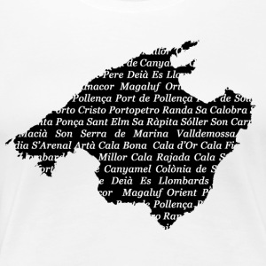 Mallorca map of where Weiss - Women's Premium T-Shirt
