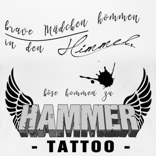 Böse Mädchen... Weiss - Frauen Premium T-Shirt