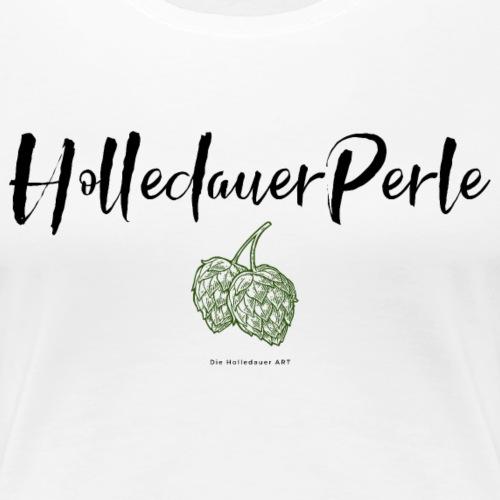Holledauer Perle schwarz - Frauen Premium T-Shirt