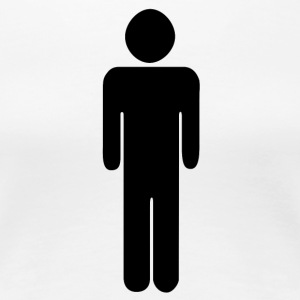 Man - toilet - pictogram - Toilet sign - Women's Premium T-Shirt
