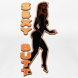 SEXY BUTT BLACK FIRE - Women's Premium T-Shirt