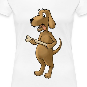 Dog Dog Dog Bark Pet food dish feed - Women's Premium T-Shirt