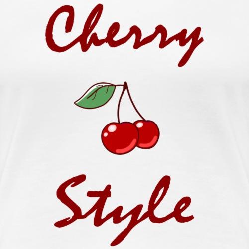 Cherry style fruit d'amour - T-shirt Premium Femme