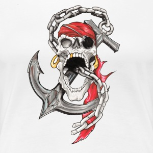 Crane Pirate Tattoo - Premium-T-shirt dam