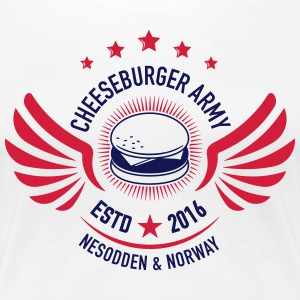 Cheeseburger Army U.S Colors - Premium T-skjorte for kvinner