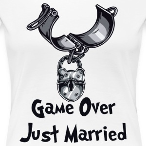Game Over Just Married - Premium-T-shirt dam