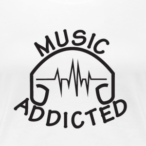 MUSIC_ADDICTED-2 - Premium T-skjorte for kvinner