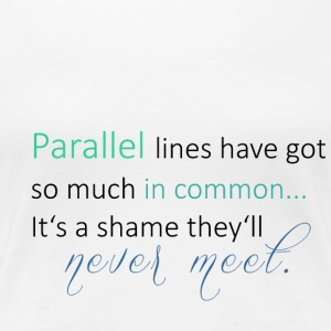 Parallel Lines 2 - Frauen Premium T-Shirt