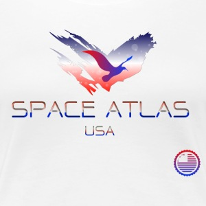 Space Atlas Tee USA - Women's Premium T-Shirt
