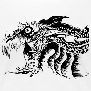 Black and White Dragon. - Koszulka damska Premium