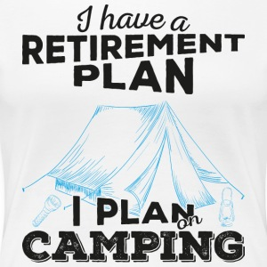 Retirement plan camping (mørk) - Premium T-skjorte for kvinner