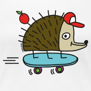 Skater Igel by cheslo - Frauen Premium T-Shirt