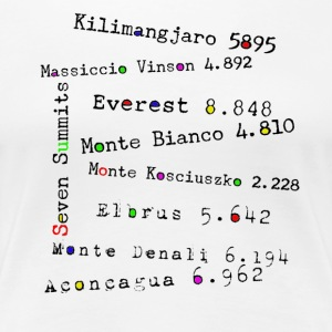 The Seven Summits - Premium T-skjorte for kvinner
