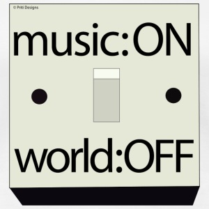 Music on : World Off - Women's Premium T-Shirt