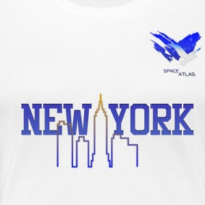 Espace Atlas Baseball Shirt de New York - T-shirt Premium Femme