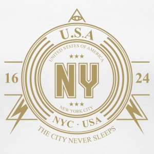 New York by - Premium T-skjorte for kvinner