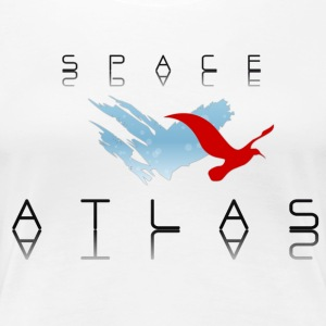 Space Atlas baseball långärmad Red - Premium-T-shirt dam