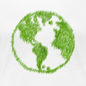 Green Grass Welt - Frauen Premium T-Shirt