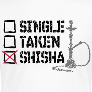 SINGLE? TAS? SHISHA! - Premium-T-shirt dam