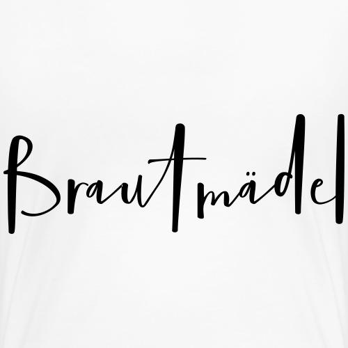 Brautmädel Handschrift Junggesellinnenabschied - Frauen Premium T-Shirt