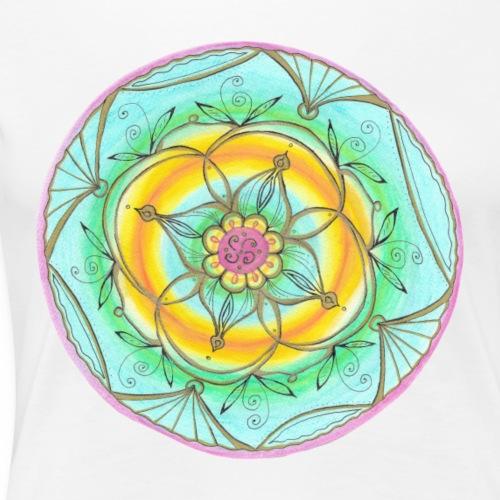 Mandala Lebensfreude handgemalt - Frauen Premium T-Shirt