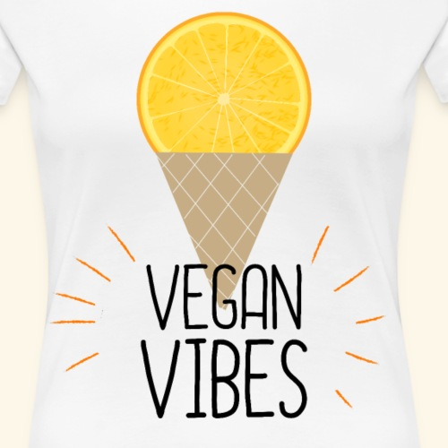Vegan Vibes Soomershirt für vegane Freundin - Frauen Premium T-Shirt