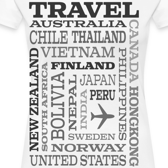 Travel Places Gray design