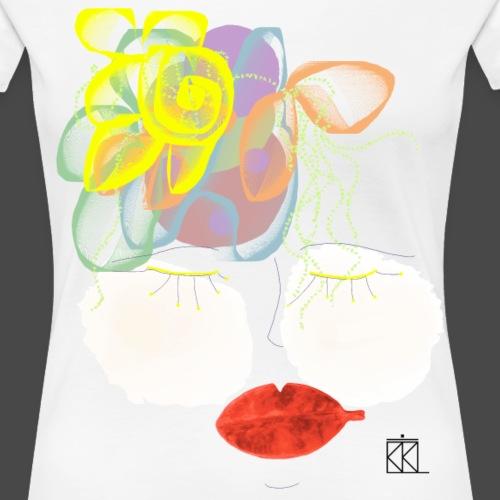 FACCE_DI_MòKIKA_MOKIKAFIORE - Maglietta Premium da donna