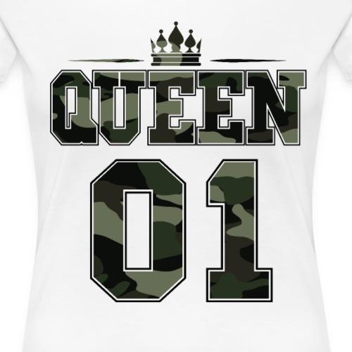 Queen 01 Partnershirt Partnerlook Camouflage - Frauen Premium T-Shirt