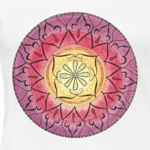 Mandala Oriental Glitter Sinnlichkeit handgemalt - Frauen Premium T-Shirt