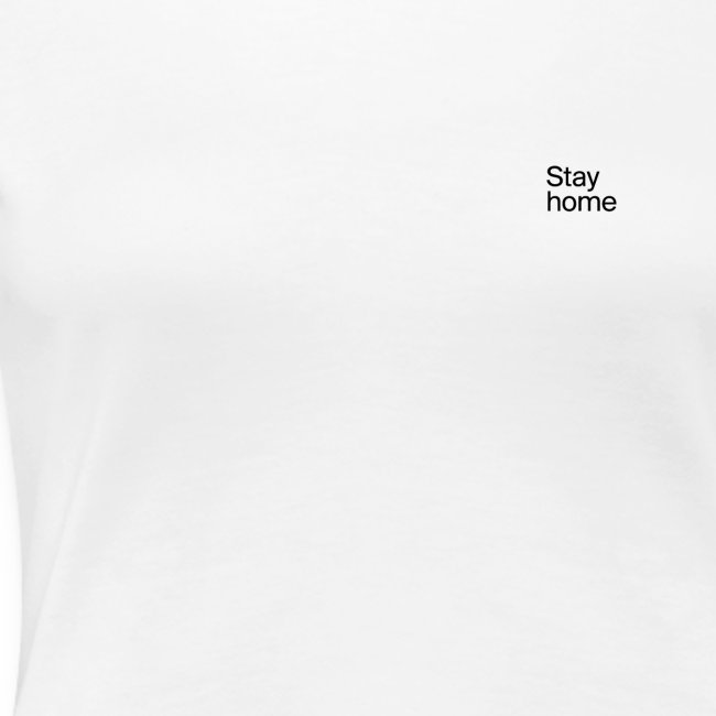Stay home Classic Tee White