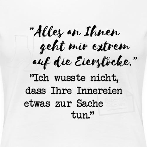 Eierstöcke - schwarz - Frauen Premium T-Shirt