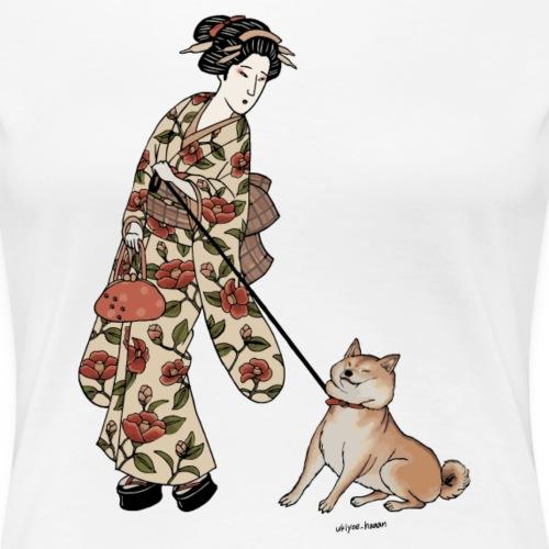 Ukiyoe Stubborn Shiba x Ukiyoe-Haaan - Women's Premium T-Shirt