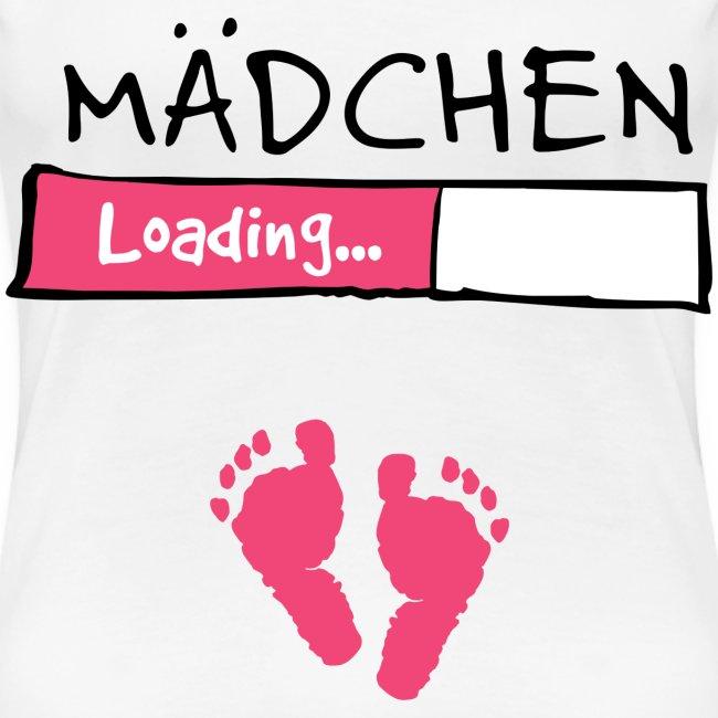Mädchen loading // Schwangerschaft T-Shirt