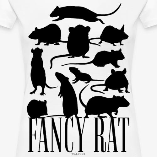 Fancy Rat Black - Naisten premium t-paita