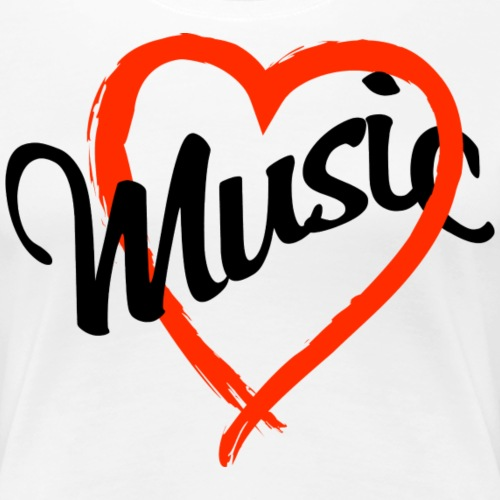 love music - Women's Premium T-Shirt