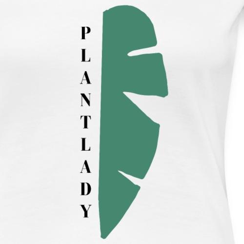 Plantlady Half Leaf - Frauen Premium T-Shirt