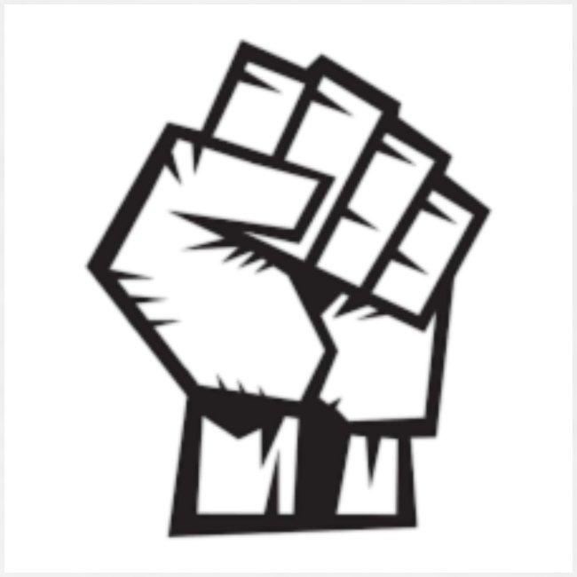 Protest Faust weißer Hintergrund