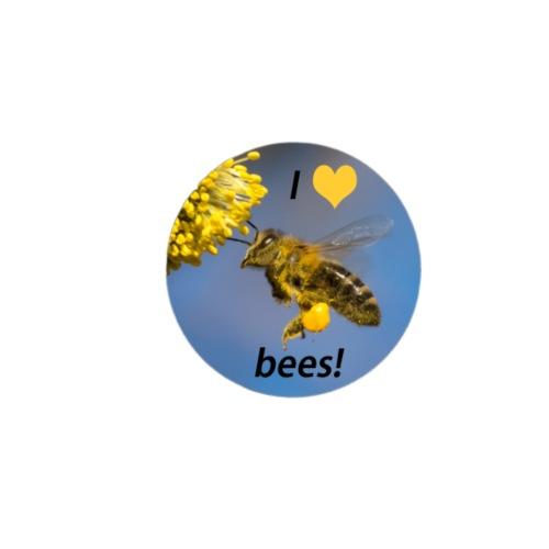 Geschenkidee Foto Biene Nahaufnahme I love bees