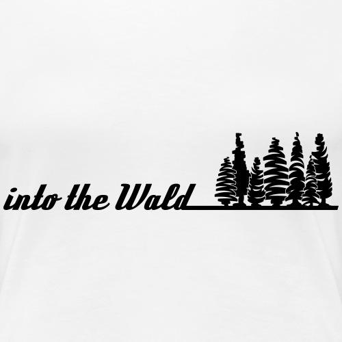into the wald - Frauen Premium T-Shirt
