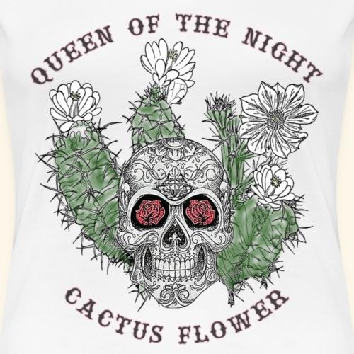 Queen of the Night Cactus Flower 2 - Frauen Premium T-Shirt