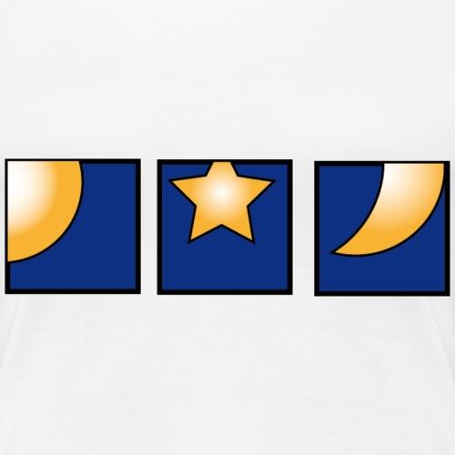Sonne, Mond und Sterne - Frauen Premium T-Shirt