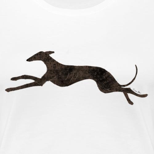 Dunkler rennender Windhund